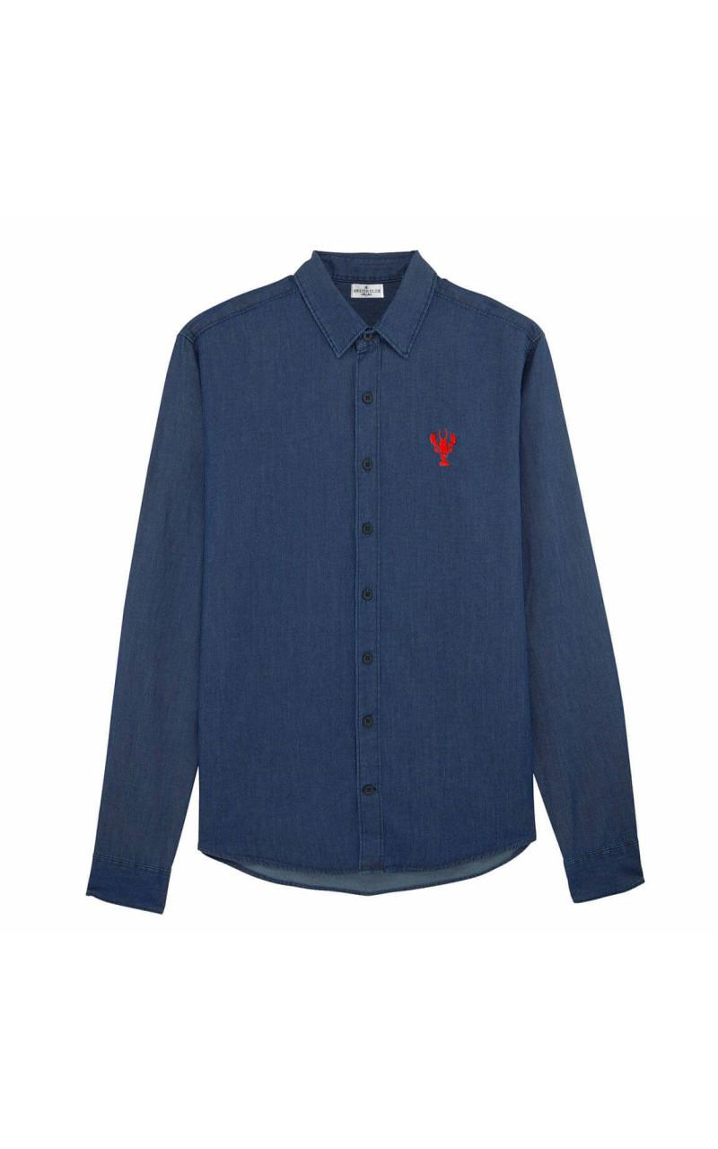 original de premier ordre magasin fabrication habile Chemise bretonne homme brodé - Homard - Breizh Club