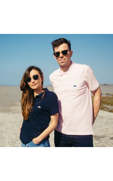Polo homme brodé Crabe