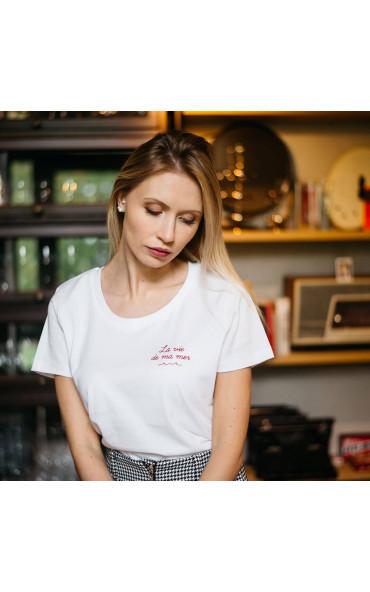 T-shirt femme brodé La vie...