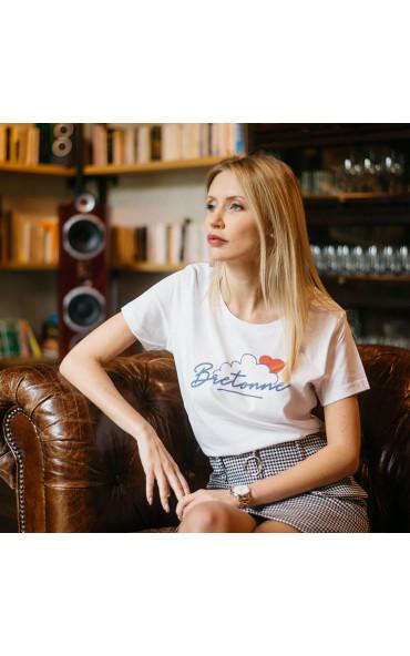 T-shirt femme Bretonne nuage