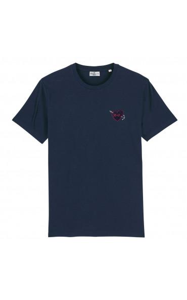T-shirt homme brodé Coeur...