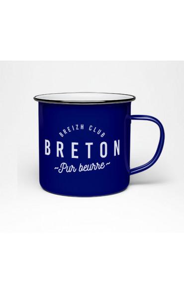 Mug émaillé Breton pur beurre