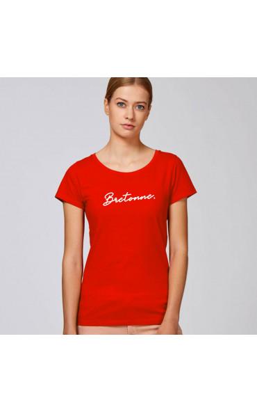T-shirt femme Bretonne - Rouge