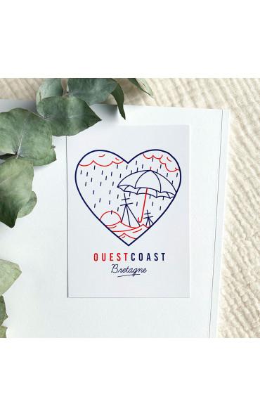 Carte postale Ouest Coast