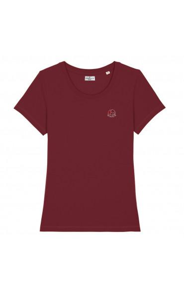 T-shirt femme brodé Brasse...