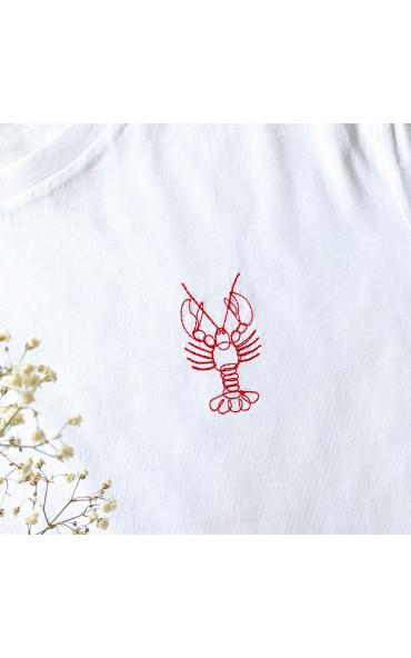 T-shirt femme brodé Homard