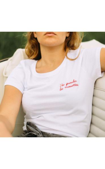 T-shirt femme brodé Vos...