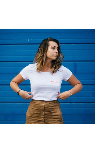T-shirt femme brodé Bisou salé