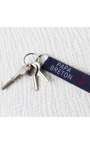 Porte-clés Papa breton