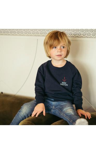 Sweat enfant brodé Mini Breton