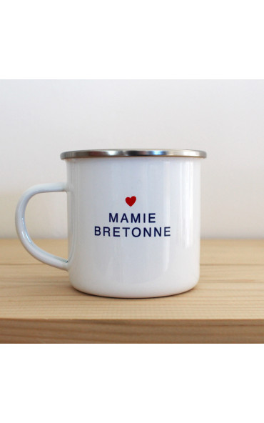 Mug émaillé breton - Mamie...