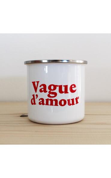 Mug émaillé breton - Vague...