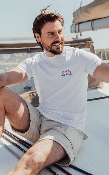 T-shirt homme brodé Garde...