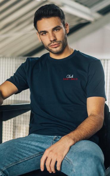 T-shirt homme brodé Club -...