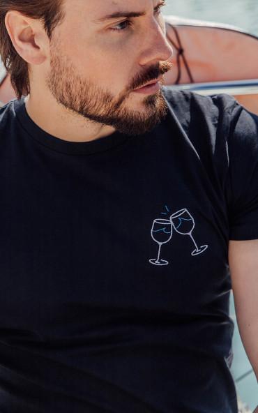 T-shirt homme brodé Wave apéro