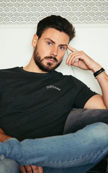 T-shirt homme brodé Capitaine