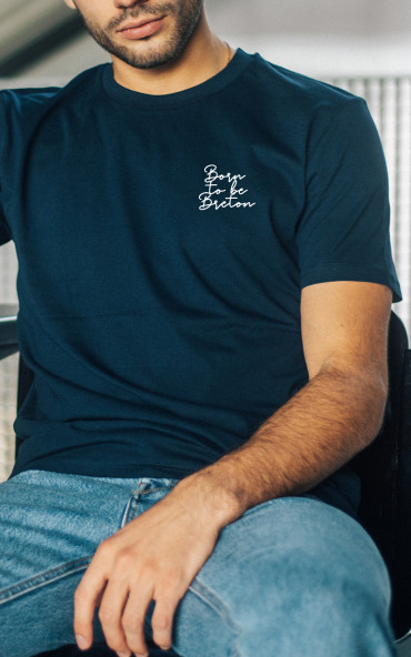 T-shirt homme brodé Born to...