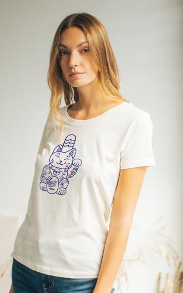 T-shirt femme Lucky Cat