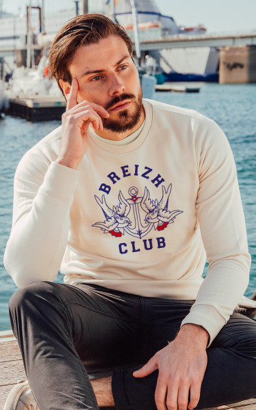 Sweat homme Ancre vintage