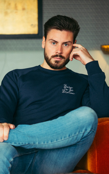 Sweat homme brodé Born to...