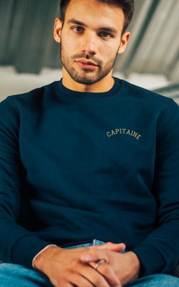 Sweat homme brodé Capitaine
