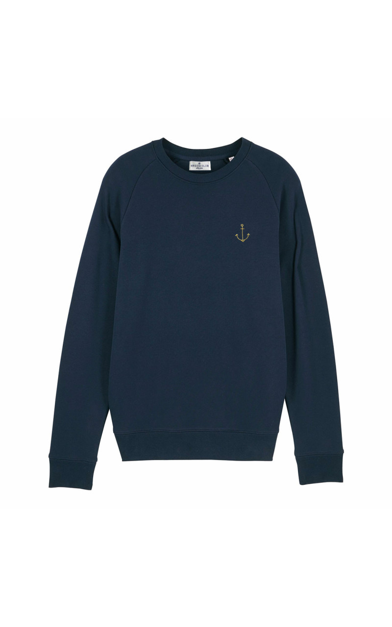 sweatshirt homme ancre marine