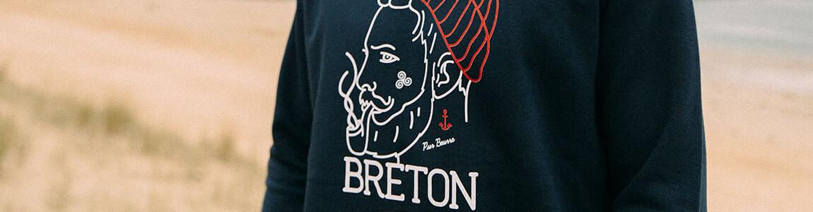 Sweat breton imprimé pour homme - Breizh Club